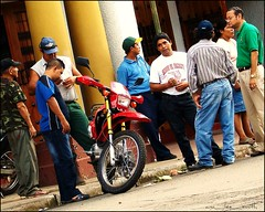 hanging out at parque central....granada (ana_lee_smith) Tags: poverty street people men latinamerica bike calle colours vibrant streetlife unescoworldheritagesite litter explore sidewalk granada motorcycle nicaragua dailylife activity unemployment parquecentral analeesmith underemloyment