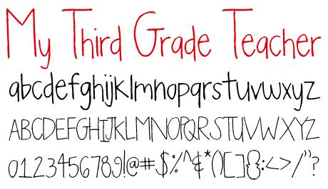 click to download My Third Grade Teacher