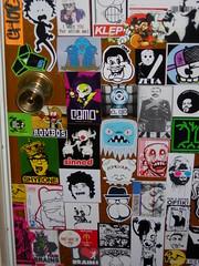 studio door detail (andres musta) Tags: door studio sticker stickerart cone stickers andres skam musta klep klepattacks klepattackscom