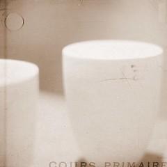 S I M P L I C I T Y (Miss K.B.) Tags: light texture sepia square mugs soft text details letters cups simplicity nikkor simple textured 50mmf14d 500x500 nikond80 lesbrumes thankstolesbrumesforthetexture thankstolenoirrrforthetexture