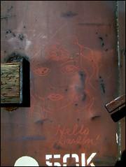 Hello Darlin' (GT Camera (aka greenthumb)) Tags: railroad art sketch chalk streak trains boxcar crayon processed bca moniker hellodarlin paintstick boxcarart femalesketch