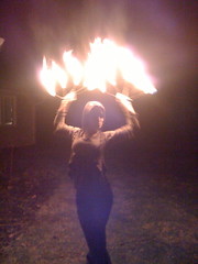 Pali, The Fire Chick (DRheins) Tags: houseparty outsiderart pali firedancer hippiechick firespinner indianapollis fireartist thefirechick