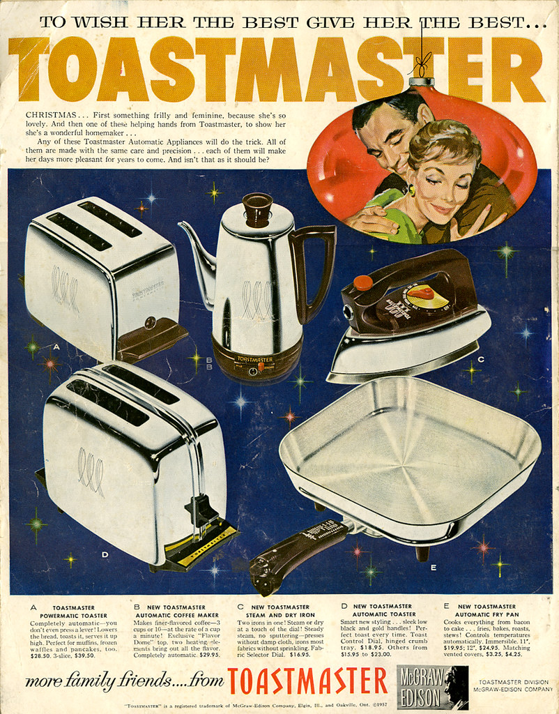 Toastmaster Christmas ad_1957_tatteredandlost