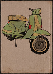vespa (Justice Mukheli) Tags: street art moleskine illustration pen photoshop design stickerart vespa drawing pop line popart pendrawing charector paperdrawing pencilandpen photographicdrawing