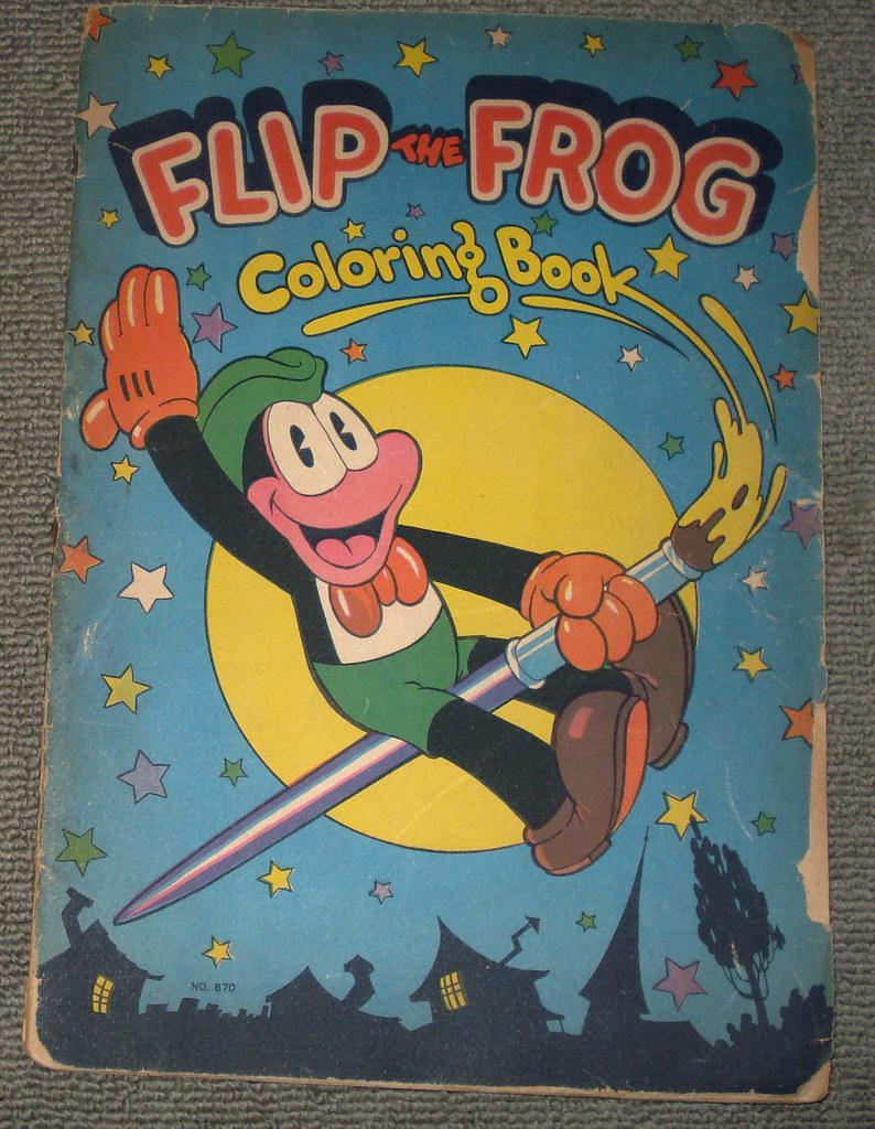 Flip The Frog Coloring Book Cover 1932 Dustincropsboy Tags Disney Coloringbook Ubiwerks