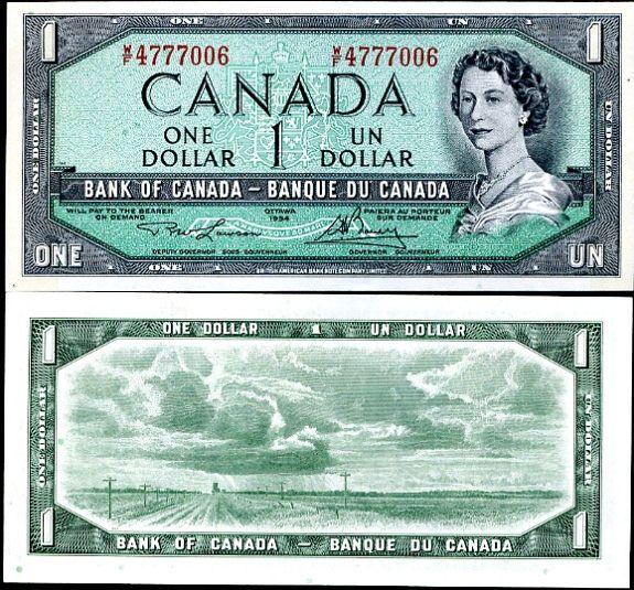 Kanada - CANADA 1 DOLLAR 1954 (1955-74)