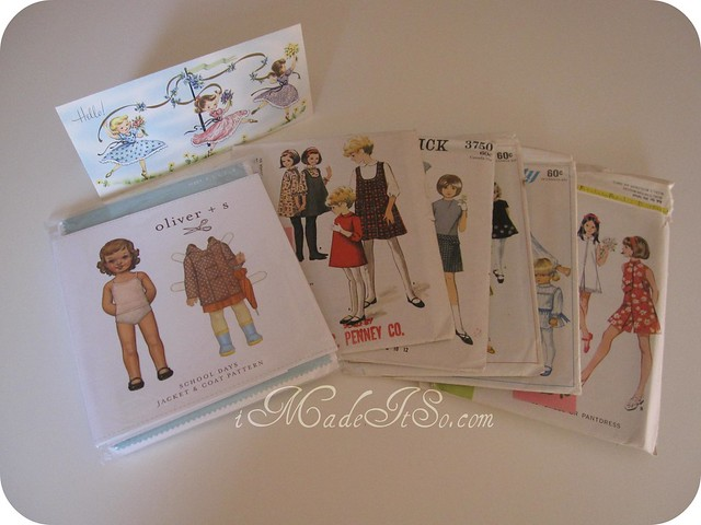 vintage sewing patterns from camille