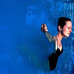 159/365 (beth maciorowski) Tags: blue portrait hot water pool girl swimming self square floating 365 6811 3652011