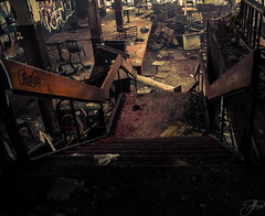 Im waiting for you (Mystikopoulos) Tags: mtl urbexmontreal montreal narcitymontreal decay downstairs stairs restaurant asian abandoned allhopeisabandoned allhopeisgone creepy seekers grimelord grime urbexcanada urbexdaily explore create scary ruins dust