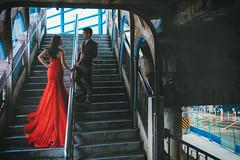 [prewedding] Keelung (pooldodo) Tags: prewedding wedding keelung 基隆 婚紗 破渡 bride groom red old street ruins