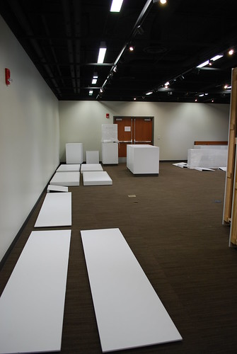 Walls and table tops laid out