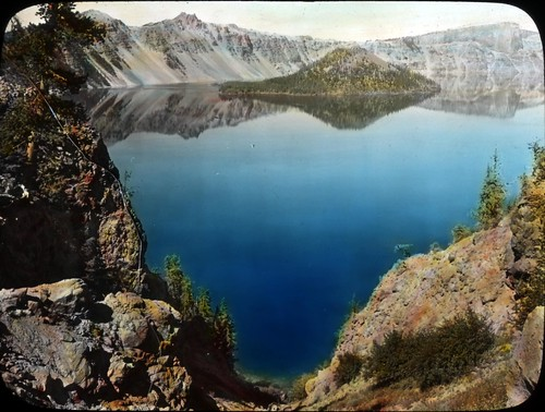 Crater Lake, looking north from the Lodge