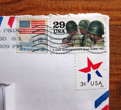 V-mail stamp