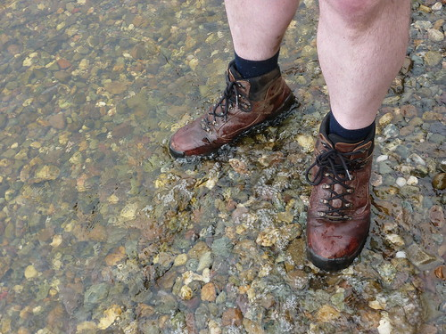 Dipping the boots in the loch