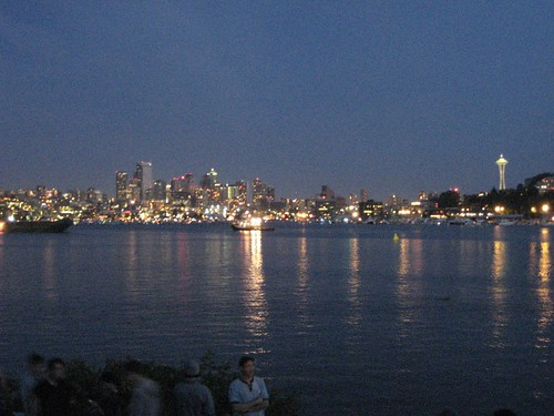 Looking at downtown across Lake Union