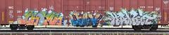 abomb,leav and kamit (LadyBench) Tags: canada train graffiti graf rail freight abomb fr8 leav benching kamit