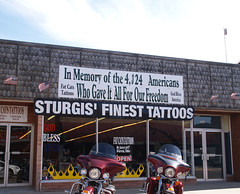 Sturgis South Dakota Home of the largest Motorcycle Rally 2009 Old Small Town Signs Building Motorbikes Roads Harley Davidson P7223270 (mrchriscornwell) Tags: old signs building home town south small rally harley motorcycle roads davidson motorbikes dakota 2009 sturgis largest
