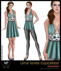[MG fashion] Uma loves cupcakes! (turquoise)