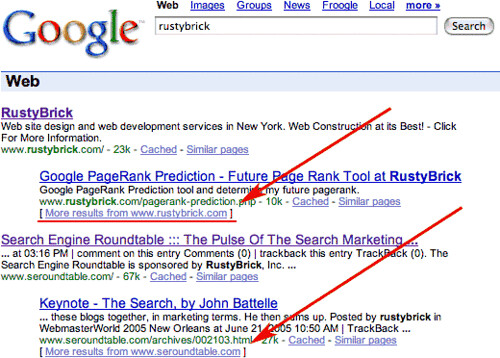 Google More Results From New