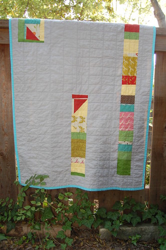 Wonderland Windowpane Baby Quilt (back)