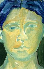 Sometimes I Just Have to Paint: 2009.08.11 (Julia L. Kay) Tags: portrait selfportrait art self painting paper paint artist acrylic julia kunst autoretrato kay daily 365 everyday juliakay julialkay