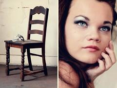unmask (Ariana Jordan) Tags: old blue vintage silver dark hair eyes chair makeup venetian maks