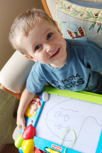 Levi with his drawing