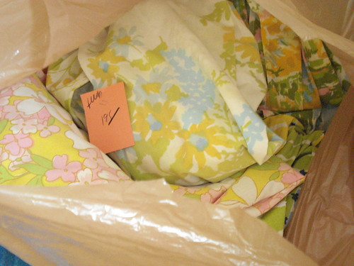 Bags of Vintage linens