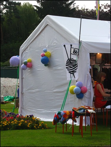 the knitting tent
