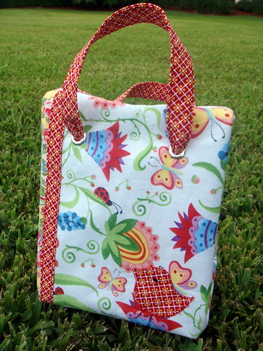 front of bird lunch bag, with top folded
