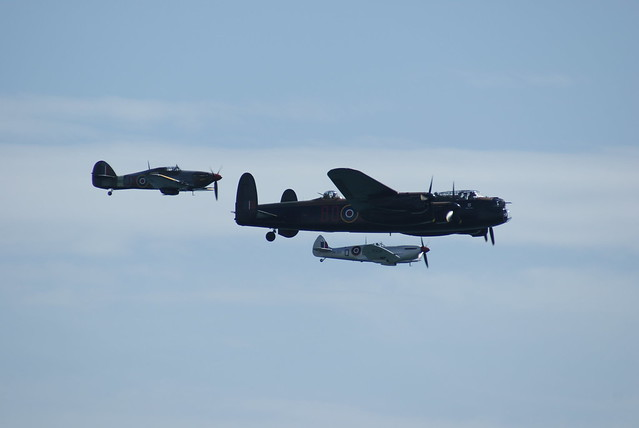 Lancaster, Spitfire and Hurricane