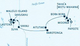 Paul Gauguin South Pacific Cruise Map