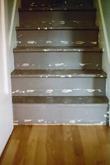 stairs (abbytrysagain) Tags: film interior domestic karalarsonshome testshotsforasmallshoot