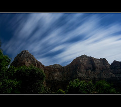 Windy Zion (Bill Ratcliffe) Tags: clouds stars zion bluehour zionnationalpark southernutah nationalparks startrails longexposures cloudsandsky longexposuresatnight
