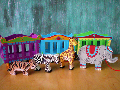 Circus Train and Animals