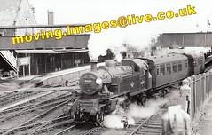 41297 Train for Torrington leaving Barnstaple, 3.06pm, 27/5/61 (moving.images2) Tags: train ebay devon 1961 torrington barnstaple 41297