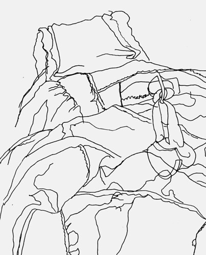 Backpack contour drawing