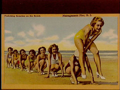 a1775 (Providence Public Library) Tags: beach narragansett postcardcollection narragansettpier narragansettpierri rhodeislandimages pc7525 frolickingbeauties