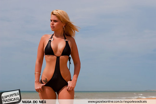 Model Paula Detmann in swimwear