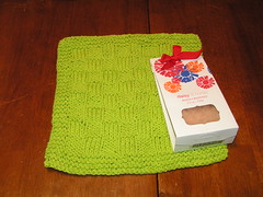 Recieved dishcloth