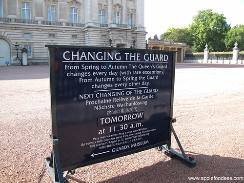 Changing the guard