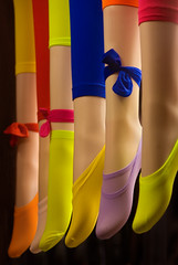 Happy feet ..... (Bruce Kerridge) Tags: pink blue red orange white black color colour green feet girl fashion yellow shop retail lady fun happy model nikon sock purple display market sale leg sydney cream australia hosiery mauve stocking weekly paddys paddysmarket d80 plusten