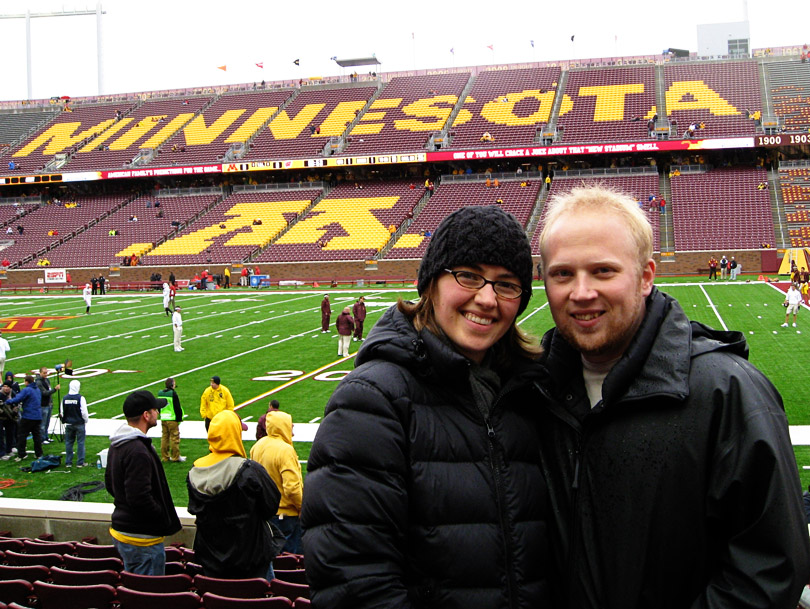 Us at the TCF Bank Stadium