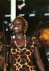 Mac Tontoh Project from Ghana at the Africa Centre London July 2001 002ok with Vida Abena Owusua (photographer695) Tags: world africa from 2001 music london mac african centre band july jazz ghana vida warriors ashanti kete trumpeter amanas osibisa tontoh owusua nanaeba exosibisa