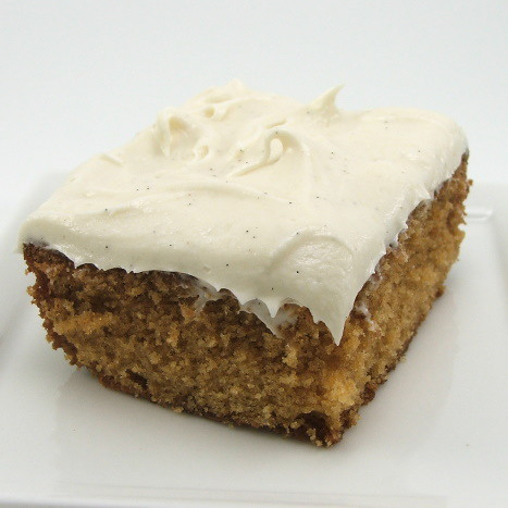 Caramel Cake with Cinnamon Vanilla Bean Cream Cheese Frosting