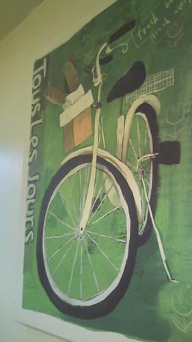 회원님이 촬영한 뚜레주르의 자전거 그림.