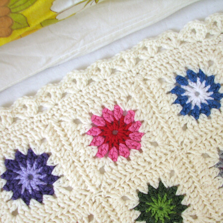 Granny square blanket finished!