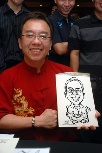 Caricature live sketching for Nera Telecommunications Ltd - 9