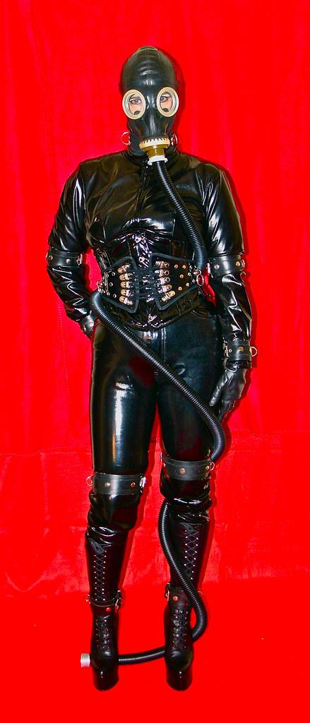 HOSE-1 (horpach) Tags: fetish mask boots sm bondage mature corset gasmask