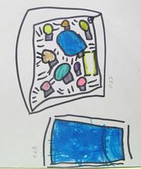 20090323-zozo畫氣球屋與由與游泳池
